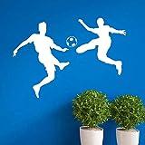 Geschnitzte neue Mode Fußball Wandaufkleber Persönlichkeit kreative abnehmbare Aufkleber 58x81cm