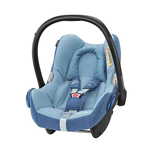 Maxi-Cosi CabrioFix Baby Car Seat Group 0+, ISOFIX, 0-12 Months, Frequency Blue, 0-13 kg Maxi-Cosi Baby car seat, suitable from birth to 13 kg (birth to 12 months) Side protection system for optimal protection against side impact Extra comfortable head support thanks to extra padding 2