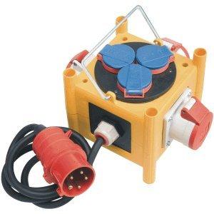 Brennenstuhl Stromverteiler Mini CEE 3 IP44 mit Anschlussleitung 3xCEE 5-polig 3x230V/16V