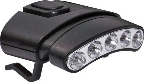 Cyclops CYC-HCDT-WR Tilt Weiß / Grün LED Clip Light Hat, Schwarz Cyc Light