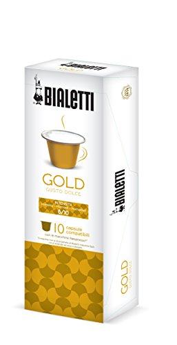 Bialetti 97000003 Nespresso-Kapseln gold weicher Geschmack, 10 Stück