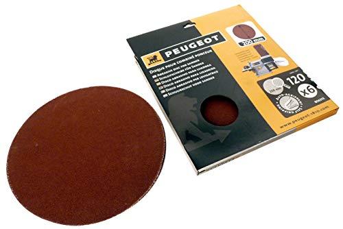 Peugeot Set 6Scheiben Klettverschluss für Kombischleifer, ENERGYSand 200ASP Ø 200mm, grau, 806313