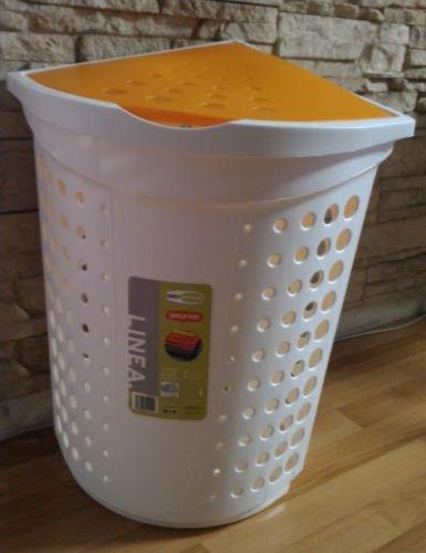 GioStyle Wäschekorb Eck 40L weiß/orange