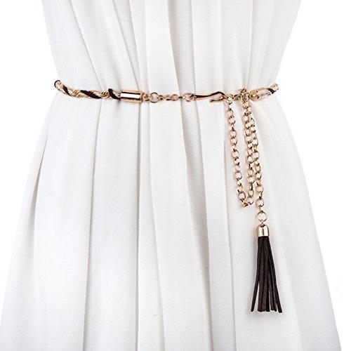 Die Koreanische Version Von Wilden Damen Metall-kette Moderne Mode Taillenkette Ornamentale Metallband-A 108cm(43inch) (Moderne Koreanische Tracht)