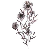 NUOVO - Arte Contemporanea metallo parete - rame antico Fiore Ance