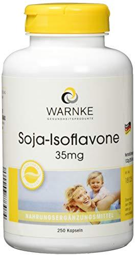 Warnke Gesundheitsprodukte Soja Isoflavone 35 mg, ohne Gentechnik, mit Vitamin E, 250 Kapseln, Großpackung, 1er Pack (1 x 112 g)
