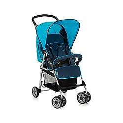 Hauck Buggy Sport / mit Liegefunktion, klein zusammenfaltbar / für Kinder ab Geburt bis 15 kg, Moonlight Capri (Blau)