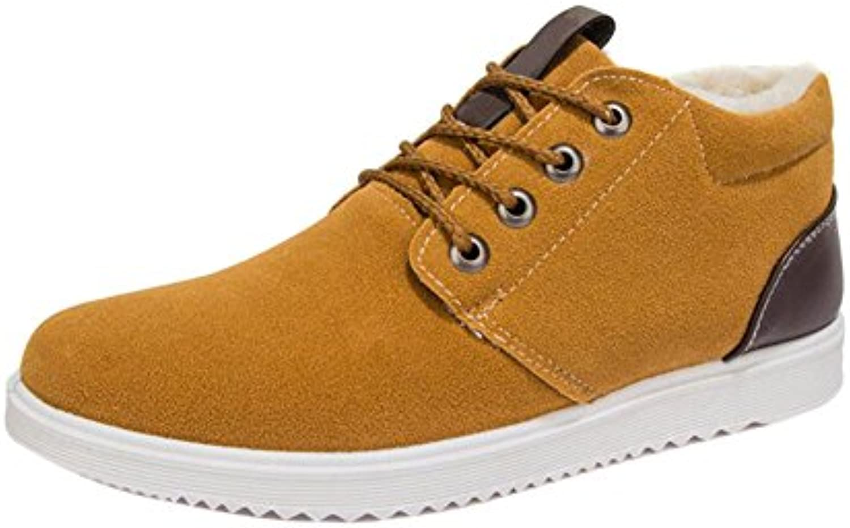 Fuyingda Hombres Casual Zapatos de Deporte de Invierno Cálido Forro de Piel Exterior Transpirable Zapatillas Fashion  -