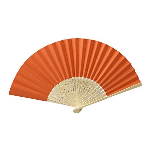 Sisit 8 stücke Faltfächer Chinesischen Stil Hand Fan Dance Fan Bambus Seide Fan 21 * 38 cm Geschenk für Mädchen Kirche Hochzeitsgeschenk, Gastgeschenke, DIY Dekoration (Mädchen Japanisch Oder Chinesisch)