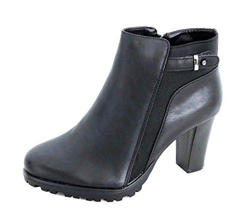 Ankle Boots Kurzschaftstiefel Plateau Absatz Stiefelette Damen Schuhe (8345) (36, (Ferien Outfits Weihnachts)