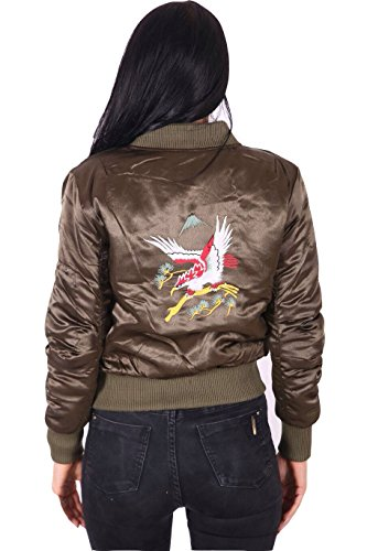 Janisramone -  Giacca  - Giacca Bomber  - Maniche lunghe  - Donna Khaki