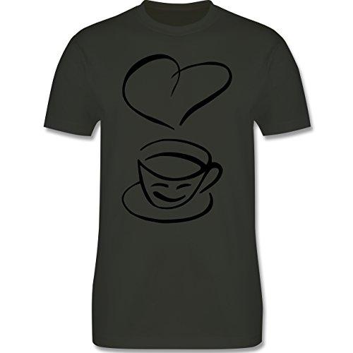 Küche - I Love Coffee - Herren Premium T-Shirt Army Grün