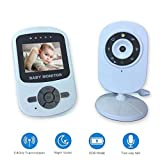 2.4 Pollici LCD Tft Video Baby Monitor Fotocamera con Visione Notturna A Infrarossi Citofono A Due Vie Walkie-Talkie Babyphone Video Baby Sitter Babycam (Design : AU Plug)