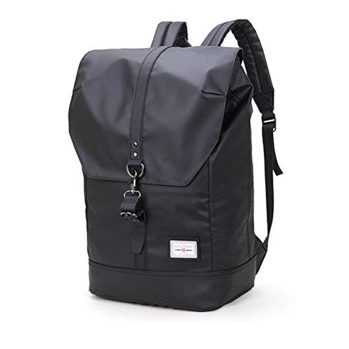 Preisvergleich Produktbild Arctic Hunter Herren Rucksack für Laptop 14,1 zoll, Wasserdicht Notebook Tasche, Vintage Schwarz Business School Reiserucksack Rucksack Daypack