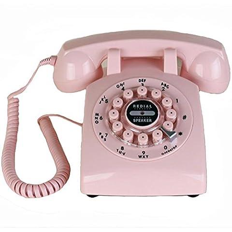 Antikes Festnetztelefon Schnurgebundenes Telefon Klassisches Metall Drehknopf Maschine Klingeltöne Freisprecheinrichtung Länge 22 5 x Breite 13 5 x Höhe 11 cm Material: Kunststoff
