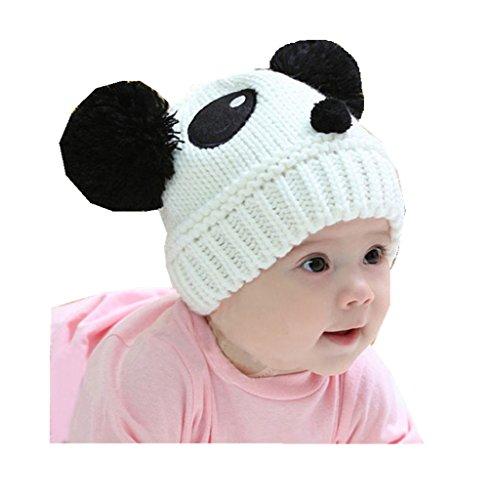 LuckyGirls Mütze Baby Kinder Mädchen Jungen Stretchy Warme Winter Panda Cap Hut Beanie Weiß