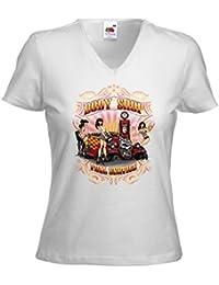 Hot Rod femme T-Shirt Body Shop blanc Rockabilly Pinup Rat Vintage