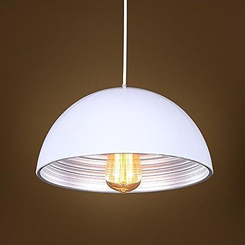 MJJ Boutique lusso semplice lampadari minimalista, bianco argento ombra di