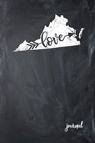 Love Journal: State of Virginia Gypsy Arrow Love Blank Diary 120 Paged College Lined 6x9 RV Travel Journal -