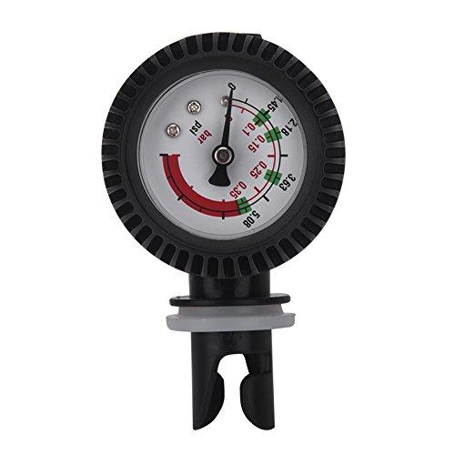 VGEBY Manometer Luftdruckmesser Kajak, Nylon Schlauchboot Luftdruckprüfer Barometer 0-0.35 bar / 0-5.08 PSI für Aufblasbares Kanu Boot SUP Kajak Schlauchboot Board Raft (Schlauchboot Manometer)