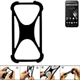 K-S-Trade Handyhülle für Homtom HT6 Schutz Hülle Silikon Bumper Cover Case Silikoncase TPU Softcase Schutzhülle Smartphone Stoßschutz, schwarz (1x)
