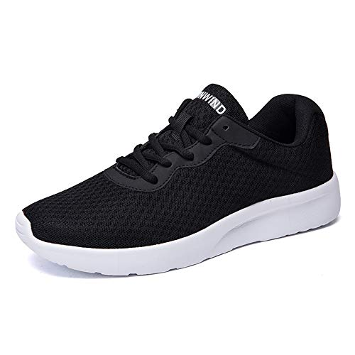 the best attitude 125c4 b44e0 FOBINI Fashion Ladies Trainers Sneakers Stylish Lightweight Walking Shoes  Women Breathable Athletic Trainers Sports Running Black