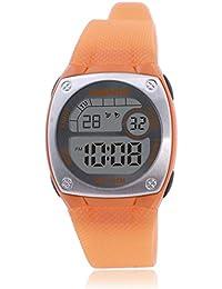 Reloj electrónico digital de múltiples funciones de los ni?os,Plaza jalea led 100 m resina resistente al agua alarma cronómetro hora dual chicas o chicos moda reloj de pulsera-B