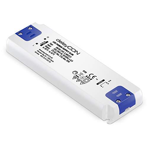 deleyCON MK3213 12V LED Trafo Transformator Netzteil Slim 0-30W 200-240V zu 12V DC LED Lampen Lichtstreifen G4 MR11 MR16 Leuchten Überladung Überhitzung