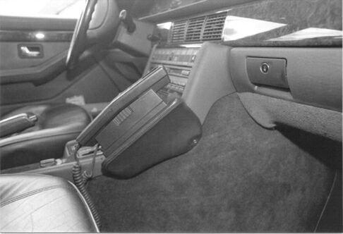 KUDA Telefonconsole (LHD) per: Audi 200/V8dal 88al 94/vera pelle Platingrau