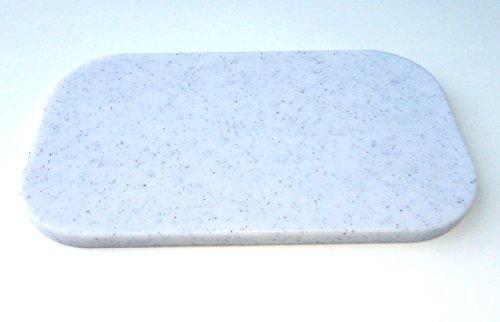 Schneidebrett, klein, 25x15x1,2 cm, Kunststoff grau-meliert, Frühstücksbrettchen, Vesperbrettchen,