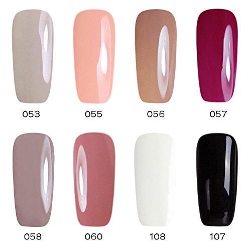 Gellen Soak off Gel Nagellack UV Gel Led Nagellack 8 verschiedene Farben (8pcs * 8ml) Set 02