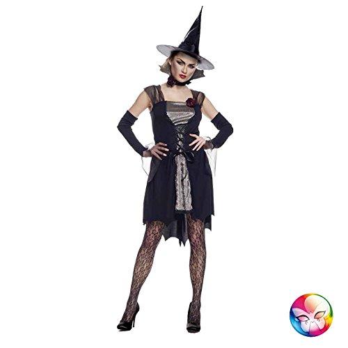 Erwachsenen Für Elegante Hexe Kostüm - Unbekannt AEC-aq00743/S-Kostüm Hexe Elegant Erwachsene Größe S (38/40)