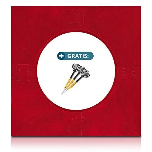 ProDarts Dart Surround für alle Marken-Dartscheiben - Dart Auffang-Ring in Rot - hochwertige stabile Umrandung - Wandschutz für das Dartboard ohne Zusatzbefestigung - professionelle Optik