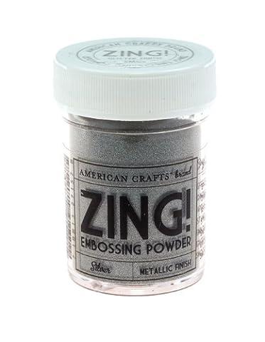 American Crafts 1-Piece 1 oz Zing Metallic Embossing Powder, Silver