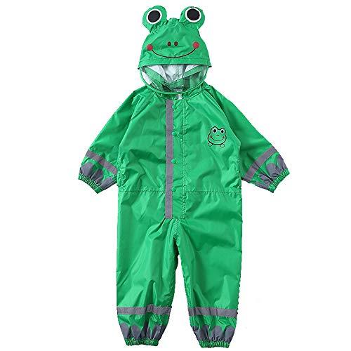 Weehey Kids Raincoat Breathable Rainwear Waterproof Raincoat For Children Boys Girls Students Rainsuit Hooded High Visibility Reflective Raincoat