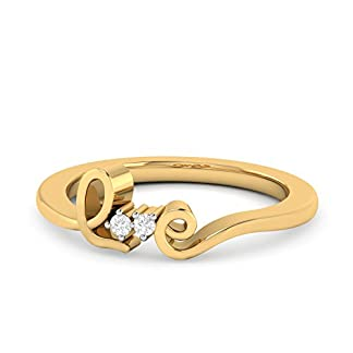 Malabar Gold and Diamonds 22k (916) Yellow Gold and Cubic Zirconia Ring
