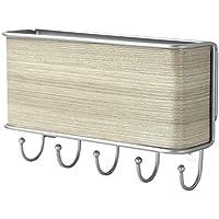 Colgador de cartas y llaves de pared   Organizador de llaves y correspondencia   Soporte para llaves de madera   Colgador de llaves   Fijaciones incluidas   M&W