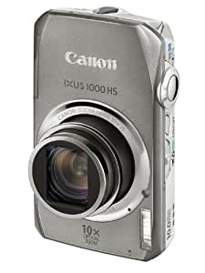 Canon IXUS 1000 HS Digital Camera (High Sensitivity 10 Megapixel, 10x Zoom, 3.0 inch LCD Screen) - Silver