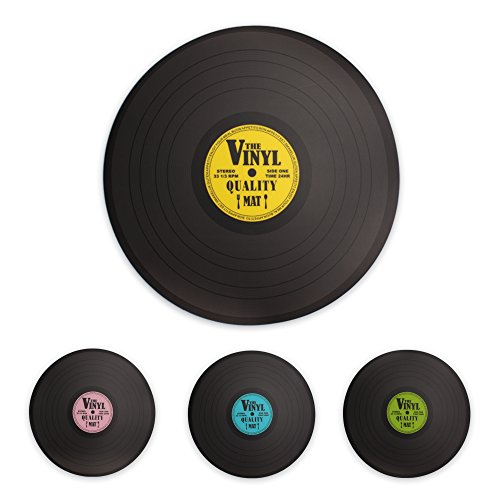 Price comparison product image Retro Record Vinyl Design Placemats set of 4 (1 of each design)