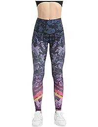 MXJEEIO- Leggings Mujer, no transparenta Mallas Deportivas Mujer Altas de Cintura Mallas Leggings con Estampado de Mujer Cintura Alta Fitness con Bolsillos para Yoga Gimnasio 1106