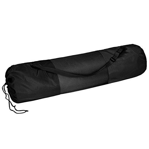 BB Sport Tragetasche für Yogamatten bis 100 cm breit und 23 cm Durchmesser zusammengerollt Yoga Gymnastik Turnen Pilates Fitness, Farbe:Combat Black