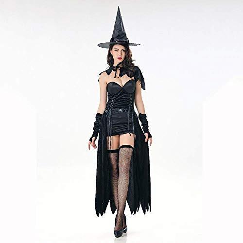 Fashion-Cos1 Kostüme Hexenkostüm Mit Hut Frauen Langes Kleid Cosplay Maskerade Damen Halloween Sexy Catwoman Kostüme