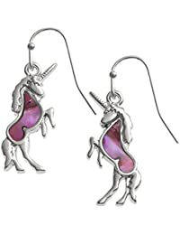 Mother of Pearl shell Unicorn hook earrings - gift boxed