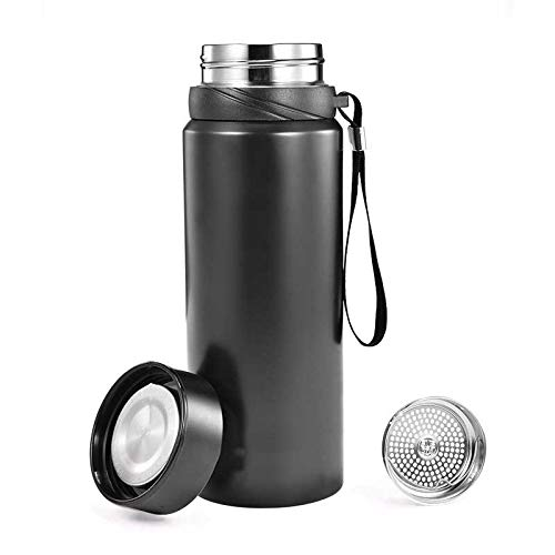 WDCSHJSJD 800ml Sport-Thermosbecher mit Filter aus Edelstahl Isolierflaschen Kaffee Tee Thermol Wasserflasche Thermocup -