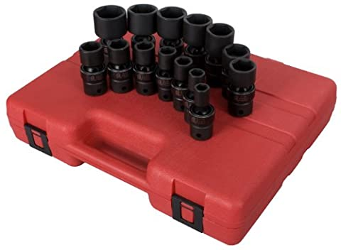 Sunex SUN2644 14Pc 0,5 pouces SAE Universal impact Socket Set