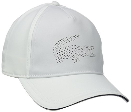 5db040a74bb Lacoste 0888464444277 Mens Sport Golf Gabardine Cap With Green Croc White  Navy Blue One Size- Price in India