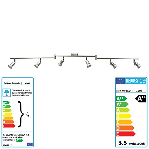 National Electronics LED soffitto Spot GU10 con 3,5 W 320