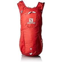Salomon Trail 10 - Mochila para running/montañismo unisex, 10L, 46x20x12 cm, rojo/blanco