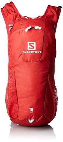 Salomon, Trailrunning Rucksack (10 L), 46 x 20 x 12 cm, TRAIL 10, Rot (Bright Red/White), L37997500