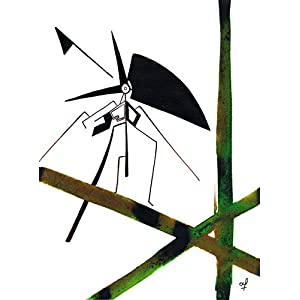 Olivier Cornil – Heure de la nature – Tuschezeichnung – 24 x 32 cm